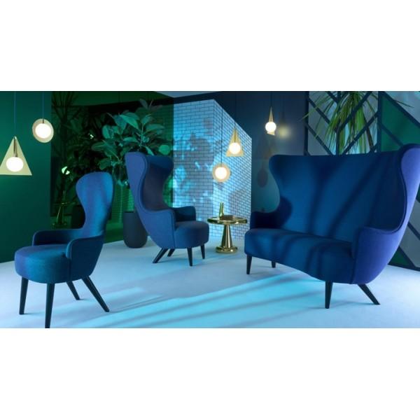 Wingback Dining Chair Blue Light City Paris