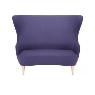 Wingback Sofa Blue Copper Legs