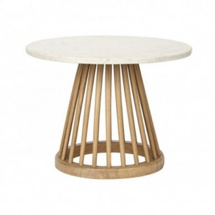 Fan Table Black Birch / Natural Screw
